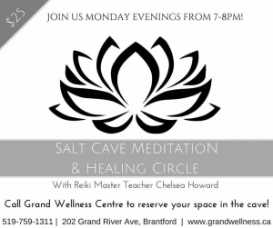 Healing Circle in the Salt Cave w/ Chelsea Howard @ Grand Wellness Centre - Salt Cave | Brantford | Ontario | Canada